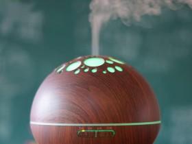 璀璨星空300ml木纹超声波雾化加湿器香薰机